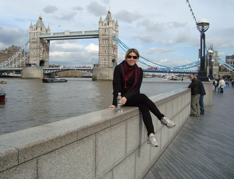 Turistando em Londres na Tower Bridge